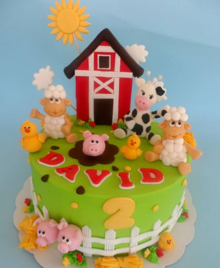 Bondgårdsdjur kalas och tårta