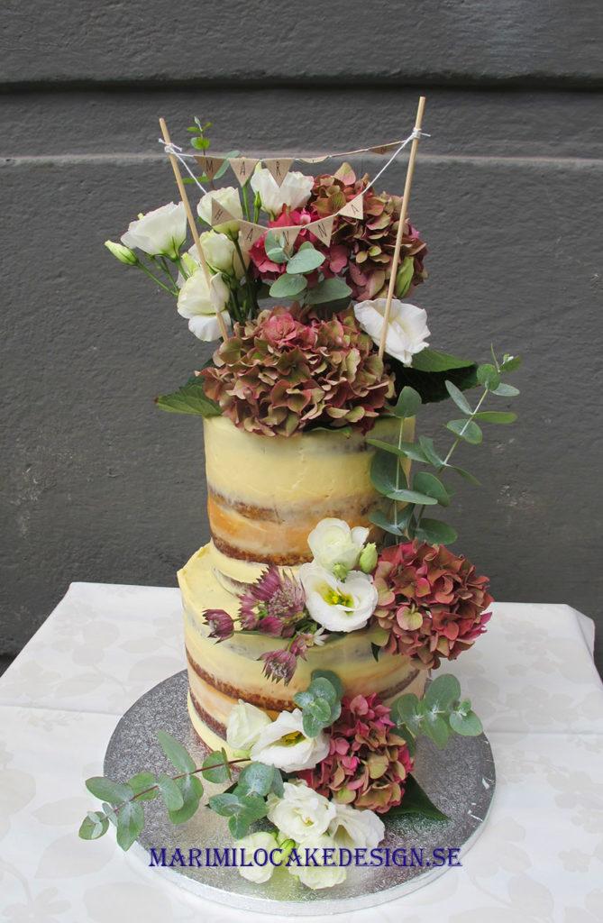 Bröllopstårta Höst Naked Cake