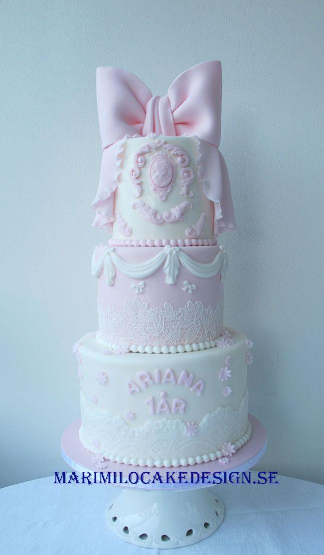 1 års tårta tjej
