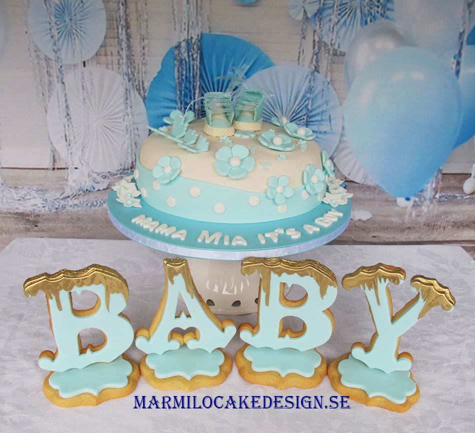 Baby Shower Tårta Stockholm