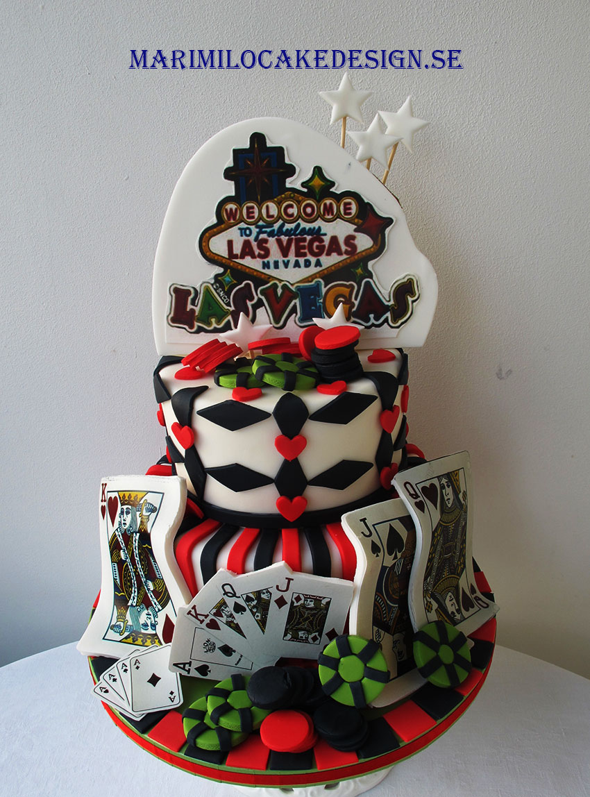 Födelsedagstårta tårta med casino tema