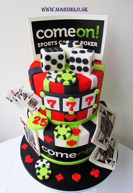 Casino tårta för killar