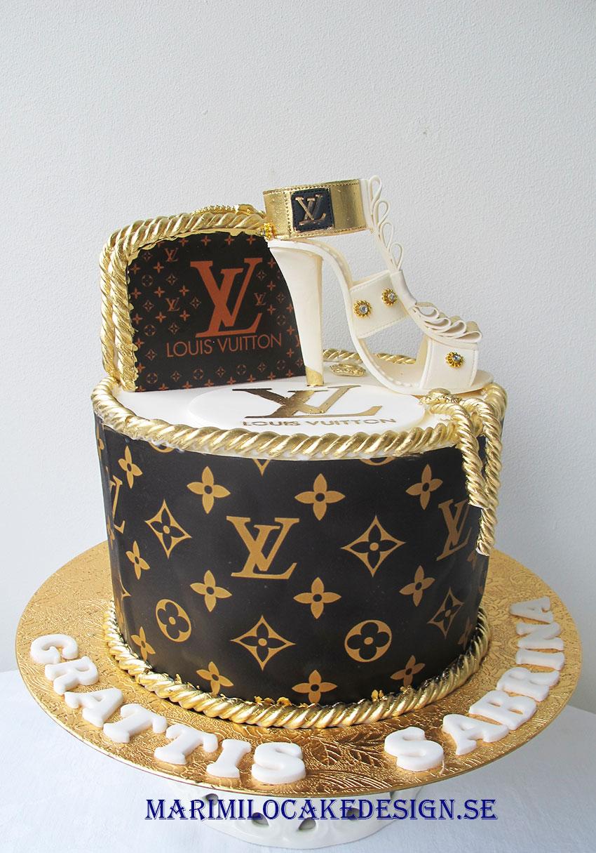 Louis Vuitton Tårta med skor och väska