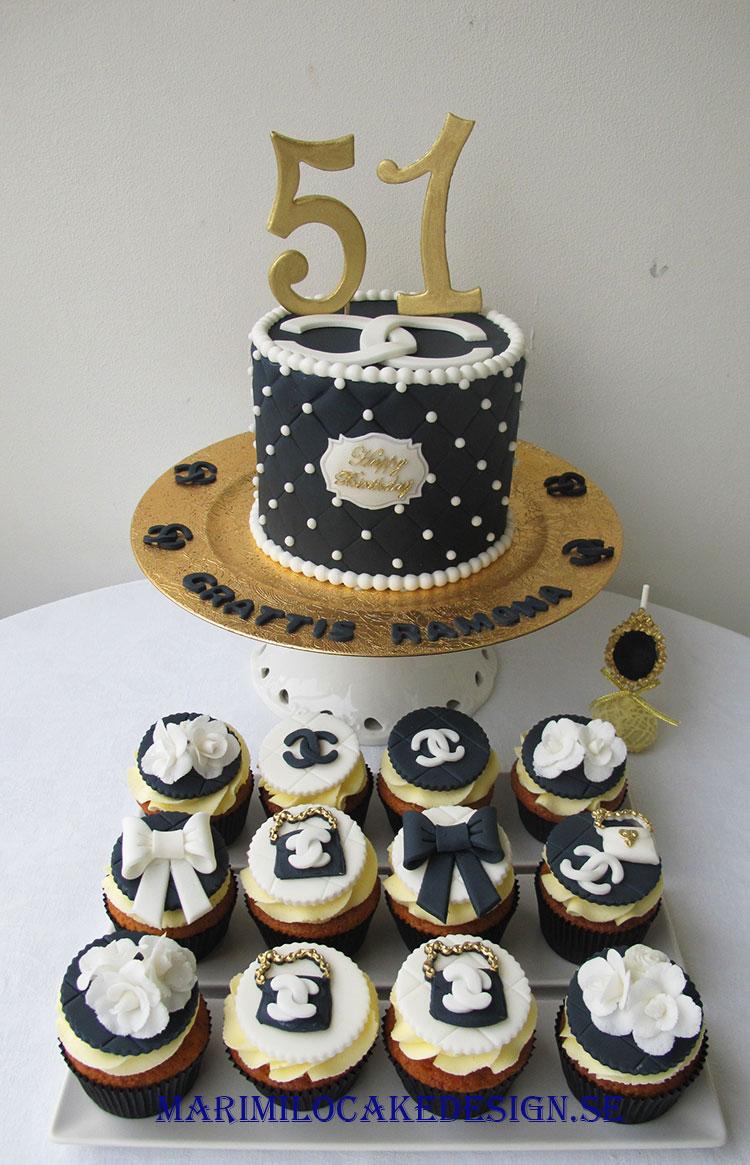Chanel tårta och cupcakes