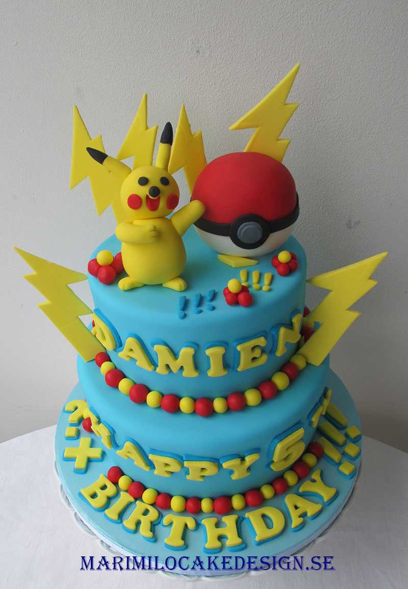 pikachu pokemon tårta