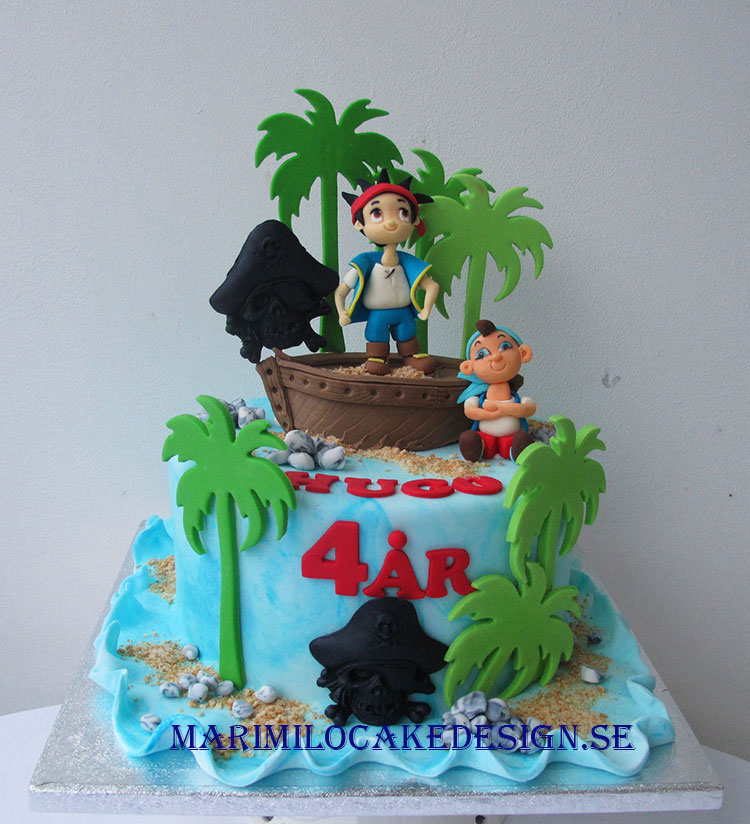 Födelsedagstårta pirattårta