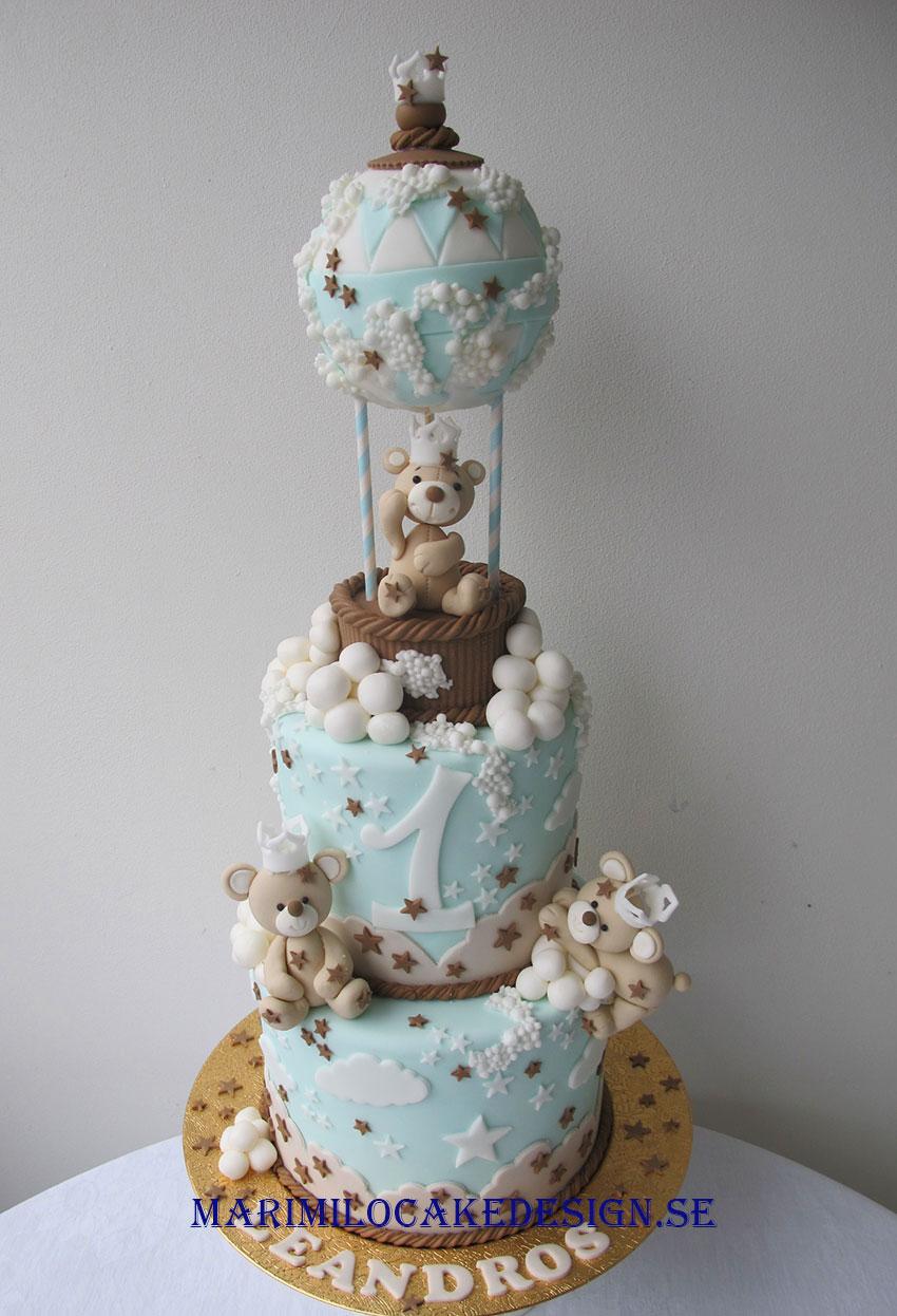 Luftballongtårta 1 års tårta