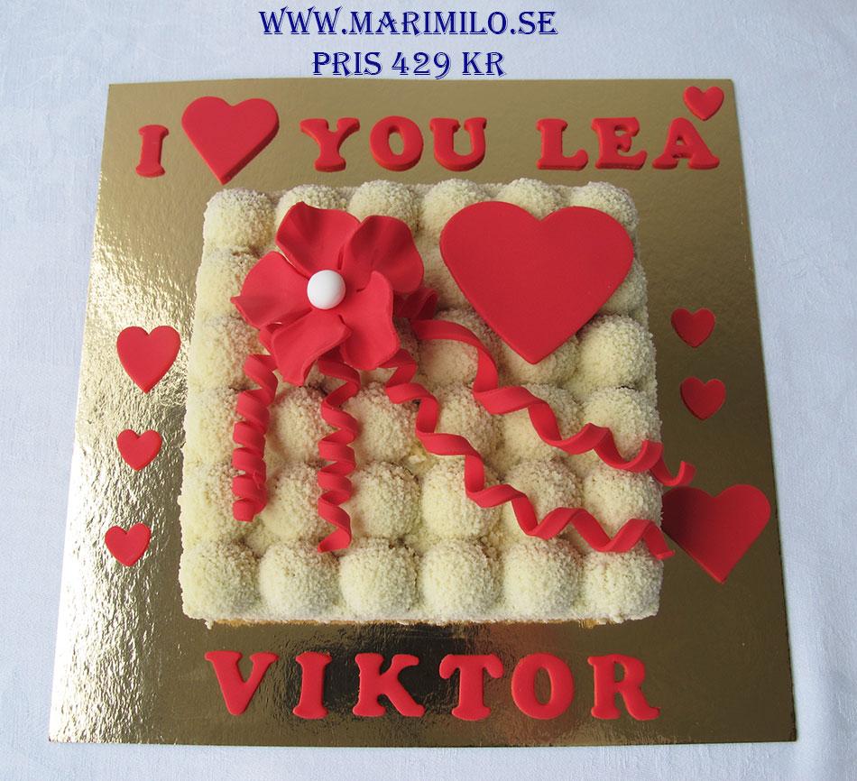 Tårta Stockholm till alla hjärtans dag, romantisk tårta