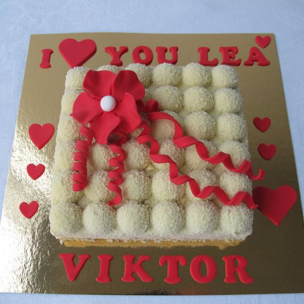 Alla hjärtans dag tårta