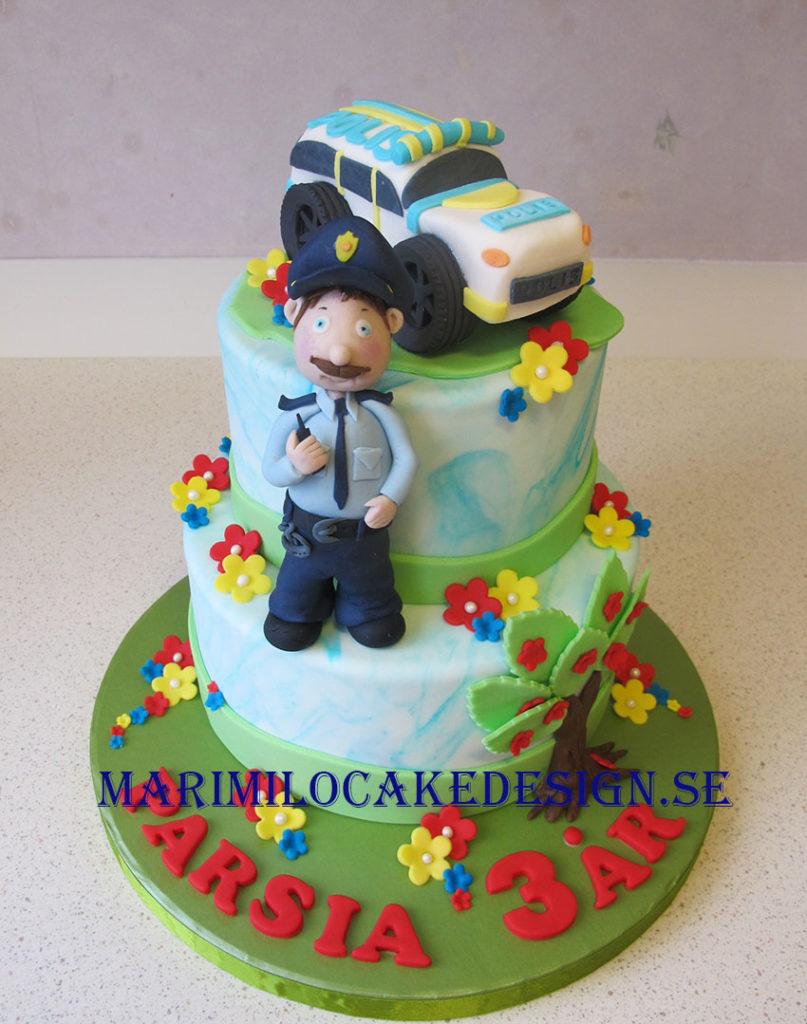 Beställ polisbil tårta Stockholm