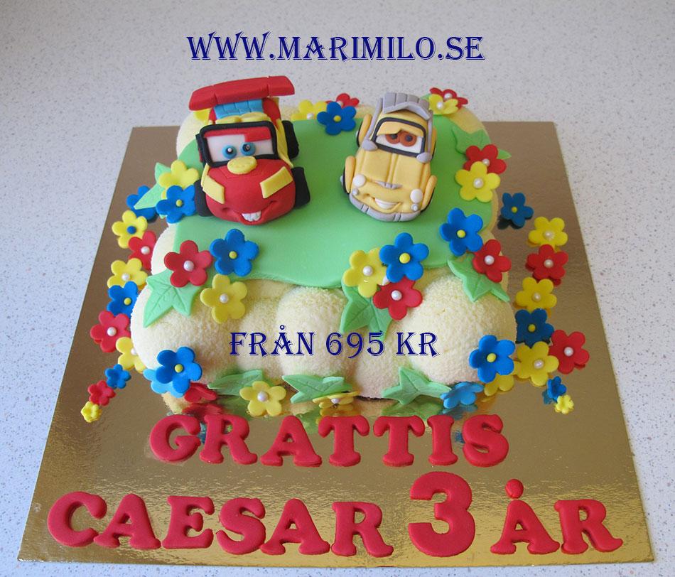Beställ barntårta Södertälje Bilar tårta