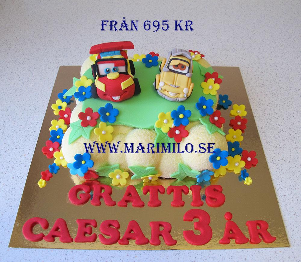 Bilar tårta priser
