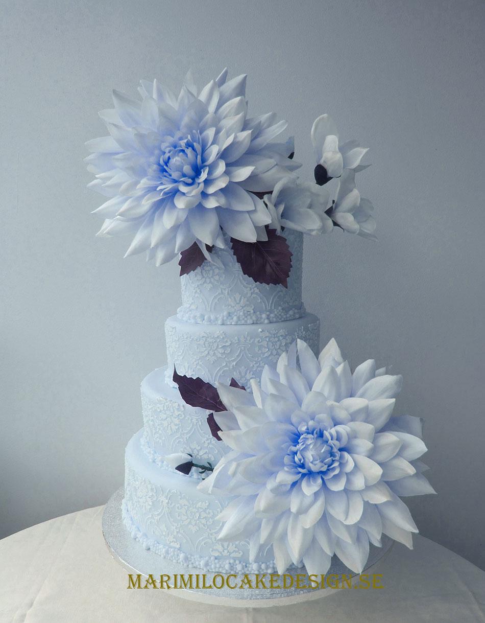 Bröllopstårta vintertema