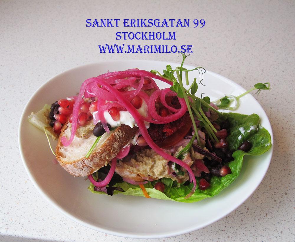 Hälsocaféet Stockholm Mari Milo, vegetarisk mat