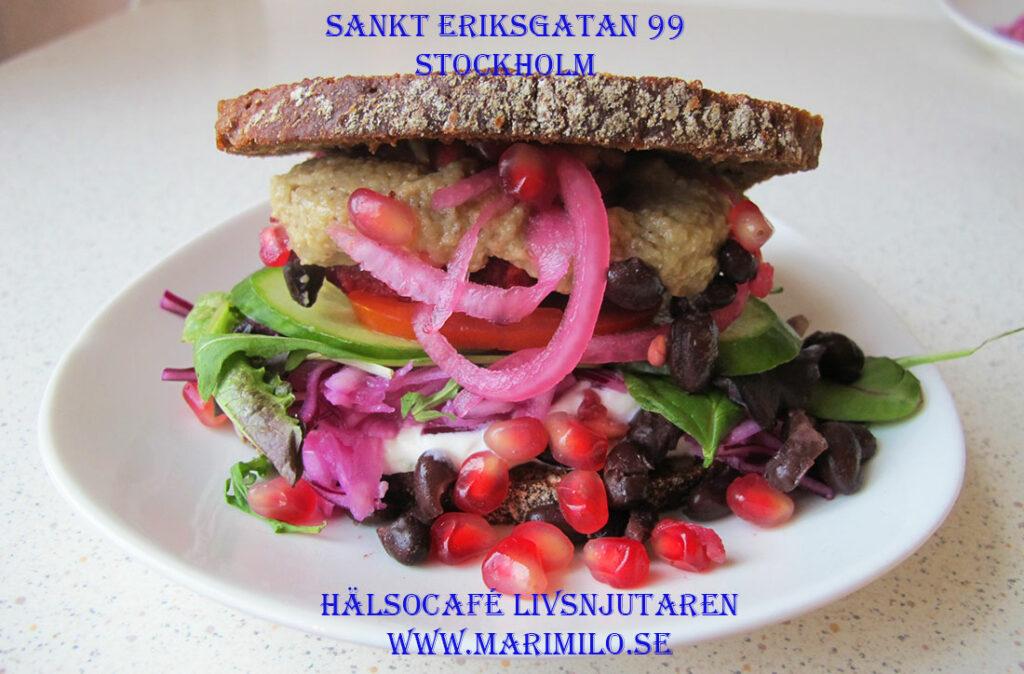 Vegetarisk, vegan, flexitarian Hälsocaféet Stockholm och catering i Stockholm