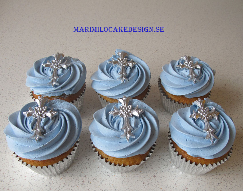 Beställ dop cupcakes