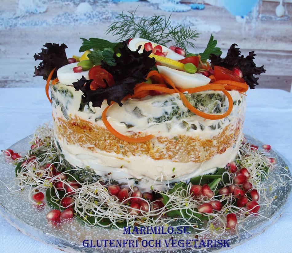 Glutenfri vegetarisk smörgåstårta Södertälje