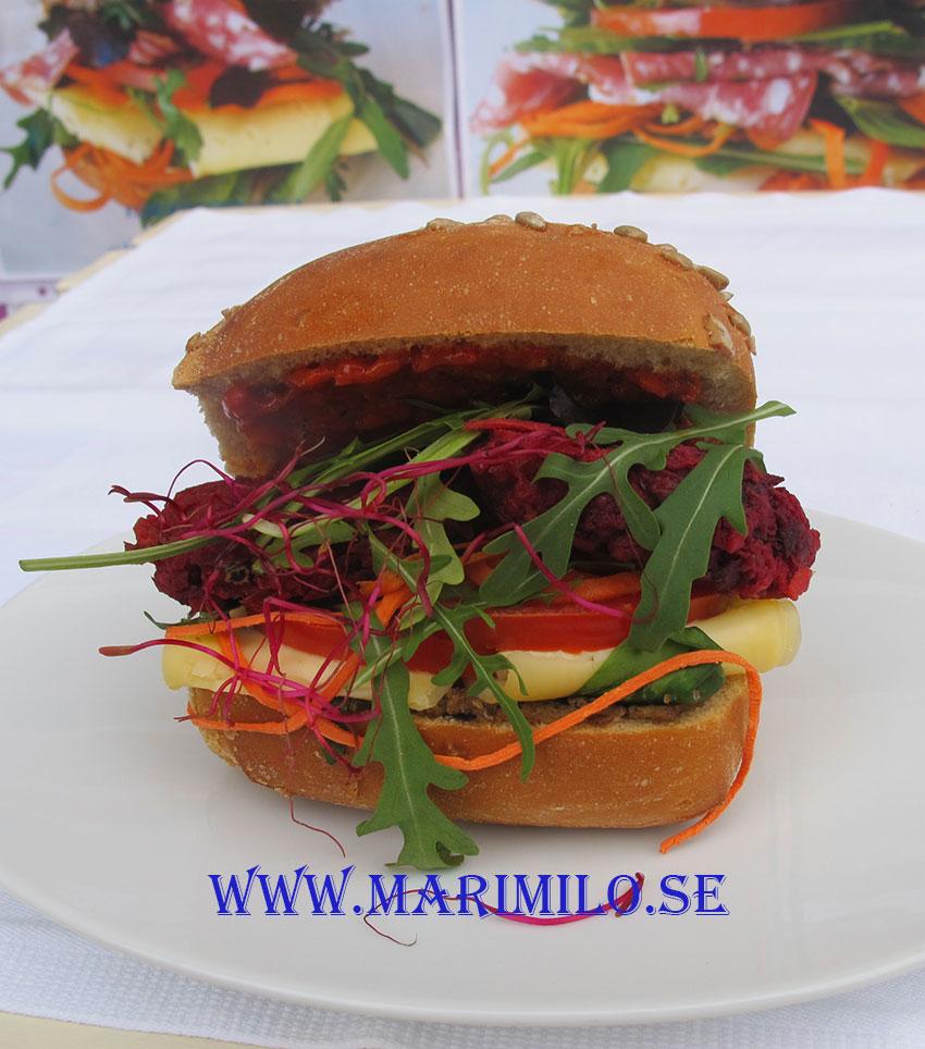 Vegetariska mackor catering Södertälje