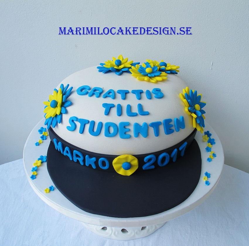 Studentmössa tårta
