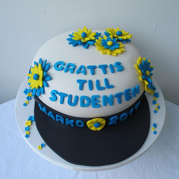 Beställ Studentmössa tårta