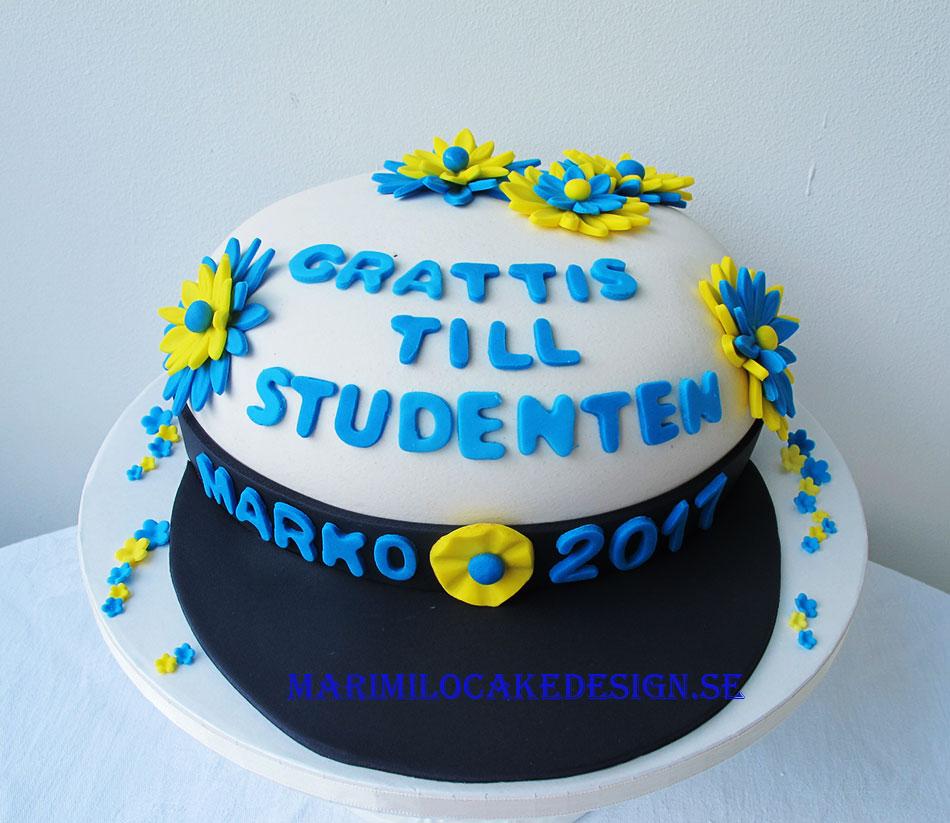 Studentmössa tårta på beställning