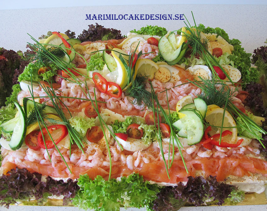 Beställa smörgåstårta Stockholm by Mari Milo