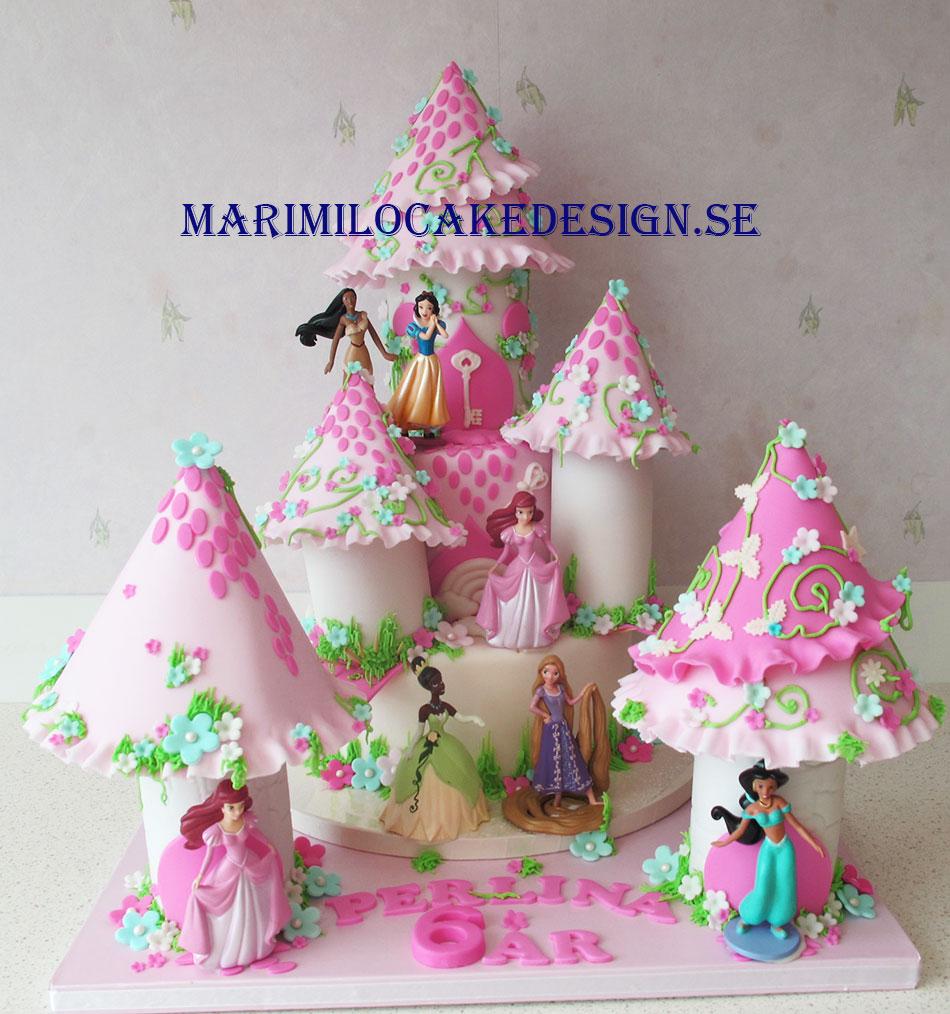 Disney prinsessor tårta