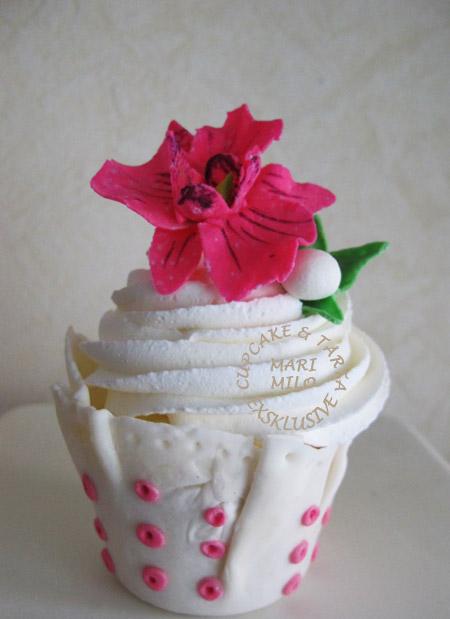 Orkidè cupcakes