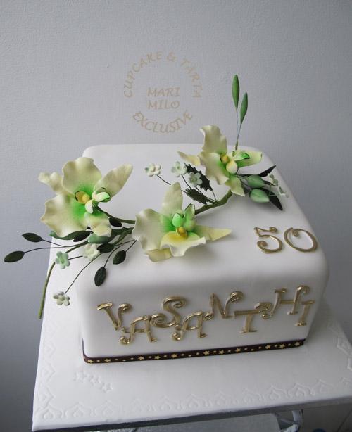 tårta till 50 års kalas Födelsedagstårta 50 år | Mari Milo Cake Design tårta till 50 års kalas
