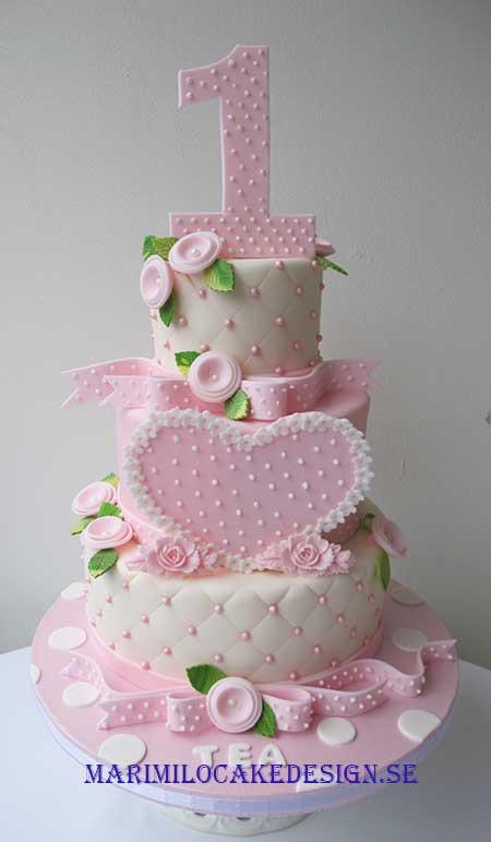 födelsedagstårta 1 år 1 års tårta tjej | Mari Milo Cake Design födelsedagstårta 1 år