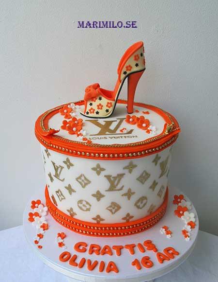 Louis Vuitton tårta