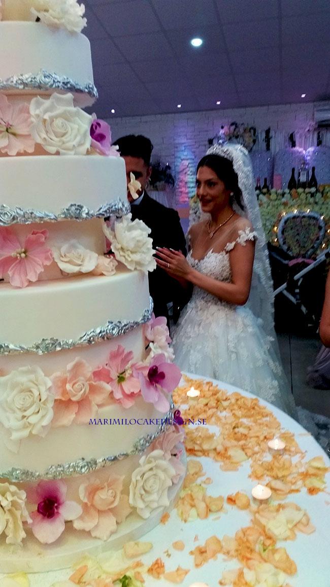 Amerikansk Stor Bröllopstårta