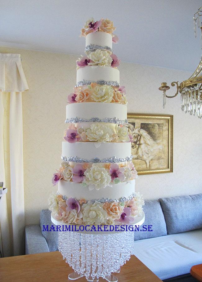 Stor Bröllopstårta