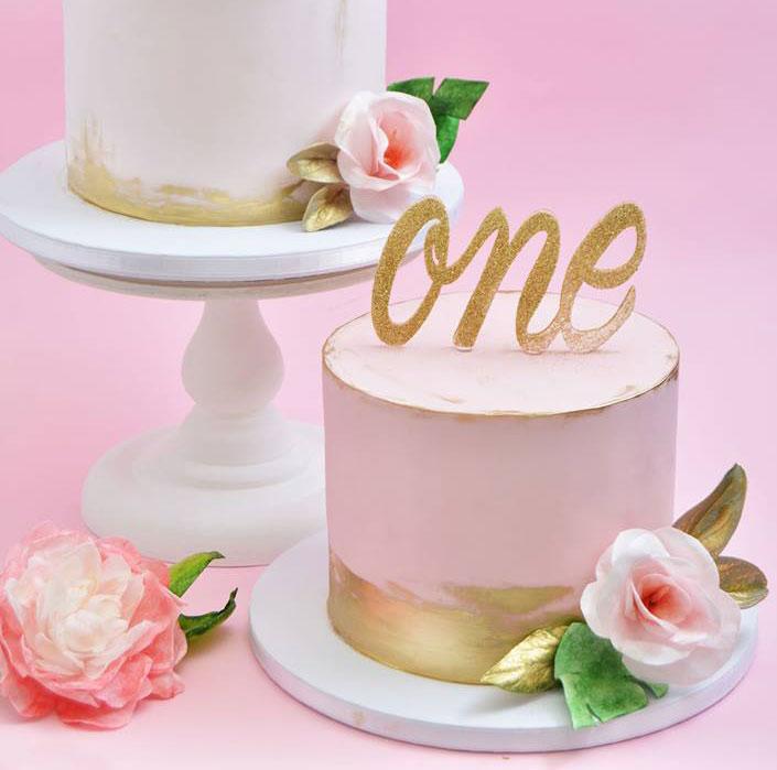riktiga blommor tårta